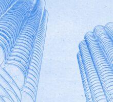 Chicago Downtown Architecture Sticker