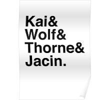 Kai & Wolf & Thorne & Jacin Poster