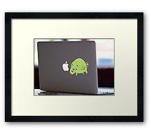 Mac Sticker - How's That Apple? - Tree Trunks Framed Print