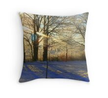 Good Morning Trees Throw Pillow