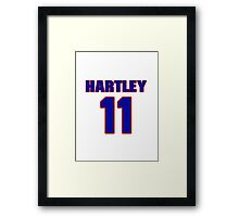 National baseball player Grover Hartley jersey 11 Framed Print