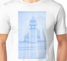 The Wrigley Building in Chicago Blueprint Unisex T-Shirt