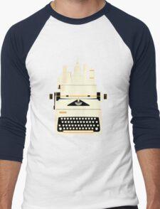 Typewrite a City Men's Baseball ¾ T-Shirt