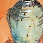 Vase with orange silk by Evelyn Smoldon