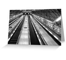 Holburn Tube Station Greeting Card