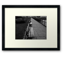 Park Benches Greenwich Framed Print