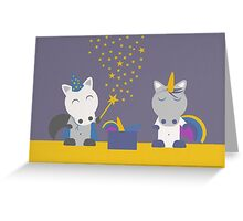 Magic horses Greeting Card