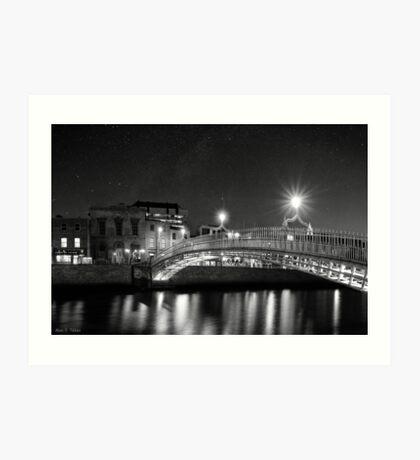 At Night In Beautiful Dublin Ireland Art Print