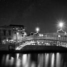 At Night In Beautiful Dublin Ireland by Mark Tisdale