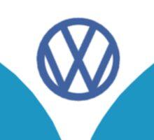 VW Camper T Shirt (blue) Sticker