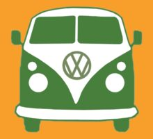 VW Camper T Shirt (green) by Pinhead Industries