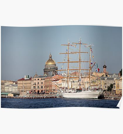 Cuauhtemoc  Mexican three-masted barque  Poster