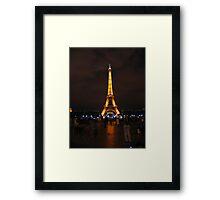 Eiffel Tower at night. Framed Print