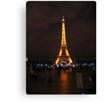 Eiffel Tower at night. Canvas Print