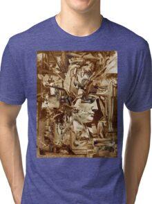 Sepia Collage Study 29. Tri-blend T-Shirt