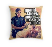 GTA HOLLYWOOD EDITION (FT. MILEY CYRUS) Throw Pillow