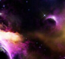 Space Astronomy Stars Planet Galaxy Design Sticker