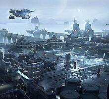 Star Citizen - Sherman Outpost by Nickonoos