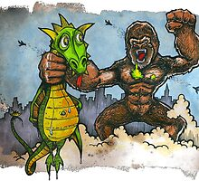 King Kong Vs. Floaty by BKLOUNGE