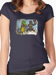 King Kong Vs. Floaty Women's Fitted Scoop T-Shirt