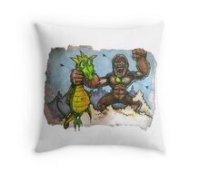 King Kong Vs. Floaty Throw Pillow