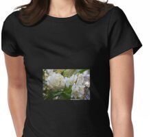 Cream Flowers get the Festive touch Womens Fitted T-Shirt