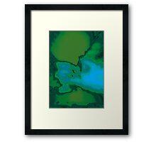 Geological Survey in Emerald Framed Print