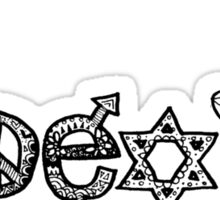 """Coexist"" Zentangle Sticker"
