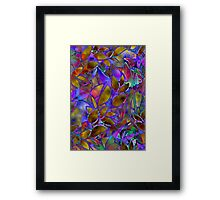 Floral Abstract Stained Glass Framed Print