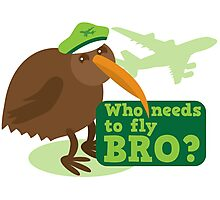 Who needs to FLY Bro? Non flying kiwi bird Photographic Print