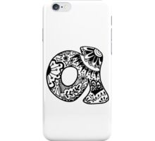 "Hipster Letter ""A"" Zentangle iPhone Case/Skin"