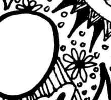 "Hipster Letter ""A"" Zentangle Sticker"
