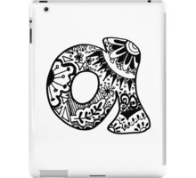 "Hipster Letter ""A"" Zentangle iPad Case/Skin"