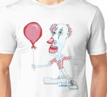 Circus Clown w. Red Ballon Unisex T-Shirt