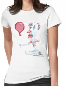 Circus Clown w. Red Ballon Womens Fitted T-Shirt