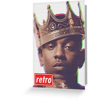 Kendrick Lamar - Retro  Greeting Card