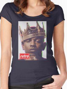 Kendrick Lamar - Retro  Women's Fitted Scoop T-Shirt