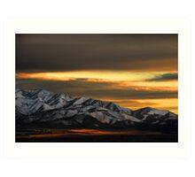 Saratoga Springs at Sunset Art Print