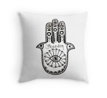 Freedom Hamsa Throw Pillow