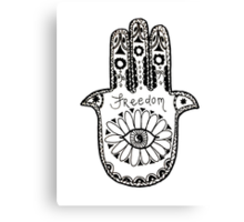 Freedom Hamsa Canvas Print