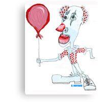 Circus Clown w. Red Ballon Canvas Print
