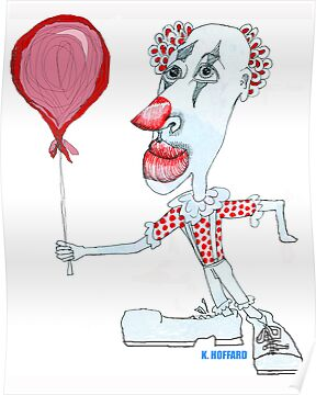 Circus Clown w. Red Ballon by Hoffard