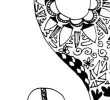 Hippie Yin Yang Sticker