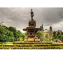 Ross Fountain and St Cuthbert's Church Photographic Print