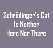 Schrodinger's Cat Is Neither Here Nor There Kids Clothes