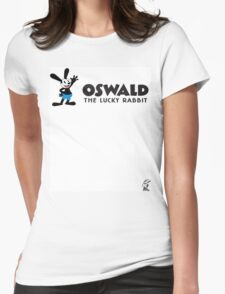 Oswald - The Lucky Rabbit Womens Fitted T-Shirt
