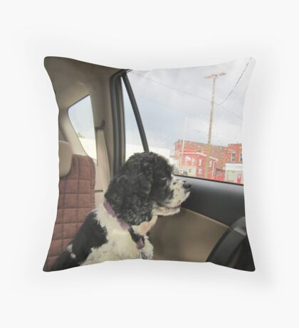musing lady Throw Pillow