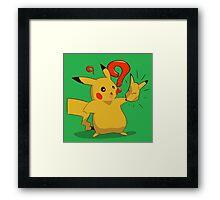 A Terrichu Fate Pikachu Framed Print