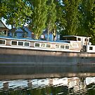 House boat on the river Rhine by KSKphotography