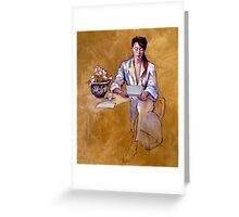 The Letter : oil painting on stretched canvas Greeting Card